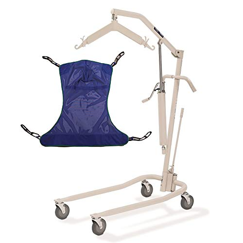 Invacare 9805P Personal Hydraulic Patient Body Lift Kit with Full Body Mesh Sling, Large