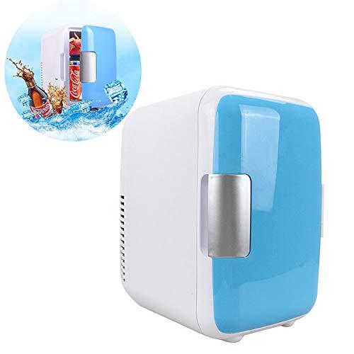 Mini koelkast, 4L draagbare ultrastille mini koelkast, met koel- en verwarmingsfuncties, geschikt voor slaapkamer en kantoor,Blue