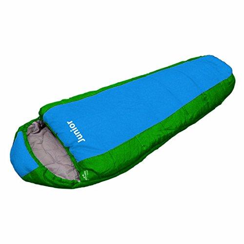 EXPLORER Kinder Schlafsack JUNIOR 170 x 70 x 50 cm Mumienschlafsack Camping Outdoor, grün / blau, 4630