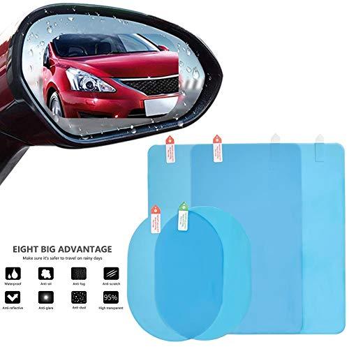 Dequate Rückspiegel Folie Für Auto - Rückspiegel Regenschutz Folie 2 STÜCKE, Multi-Größe Anti Fog Wasserabweisend Spiegel Schutzfolie Für Auto Spiegel Und Seiten Fenster