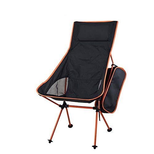 XuCesfs Klappstuhl aus Aluminiumlegierung, einfach tragbar, Mondstuhl, Outdoor, Camping, Klappstuhl (Farbe: Orange)