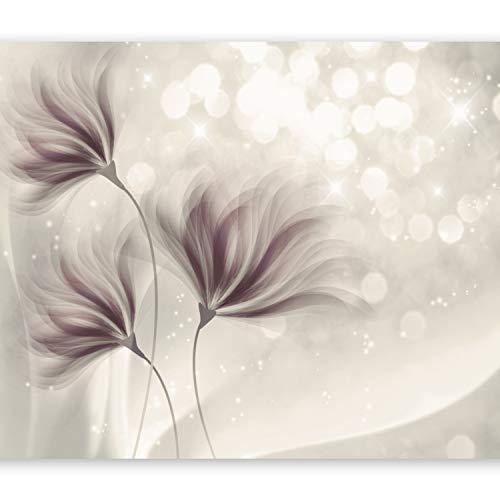 Papel Pintado Pared Moderno 3D Flores Marca murando