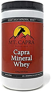 MT. CAPRA SINCE 1928 Capra Mineral Whey | A Whole Food, Bio-Available Mineral/Electrolyte Supplement from Goat Milk Whey, ...