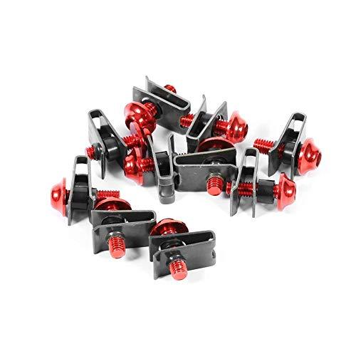 Motorrad Verkleidungsschraubensatz, 10x M5 Motorrad Verkleidungsschraubensatz Schraube Spire Speed Fastener Clip Nut(rot)