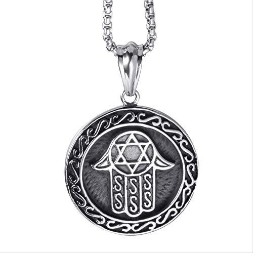 CCXXYANG Co.,ltd Collar Hombres Hamsa Mano De Fátima Colgante Collar Símbolo Egipcio Colgantes De Acero Inoxidable con Cadena