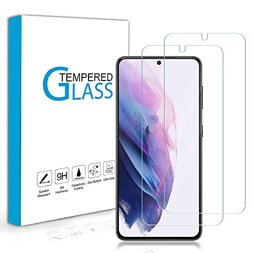 Carantee Panzerglas Schutzfolie für Samsung Galaxy S21, [2 Stück] Hüllefre&lich Superdünn HD Klar Folie, 9H Festigkeit Blasenfrei Panzerglasfolie, Anti-Kratzer Anti-Öl Bildschirmschutzfolie für Samsung S21