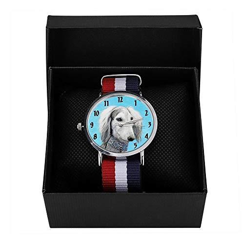 HAYOE フィンランド スピッツ犬 微笑 ポートレート 腕時計 ナイロン ウォッチ メンズ クオーツ ウォッチ プレゼント 贈り物 新生活 フォーマル カジュアル ペアウォッチ 時計