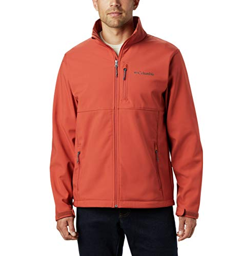 Columbia Men's Ascender Softshell Jacket, Water & Wind Resistant, Carnelian Red, Large