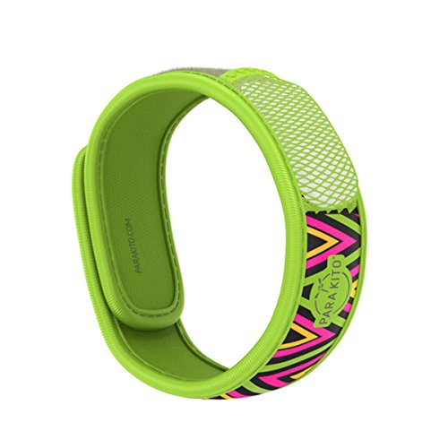 PARA'KITO Mosquito Insect & Bug Repellent Wristband - Waterproof, Outdoor Pest Repeller Bracelet w/Natural Essential Oils (Inka)