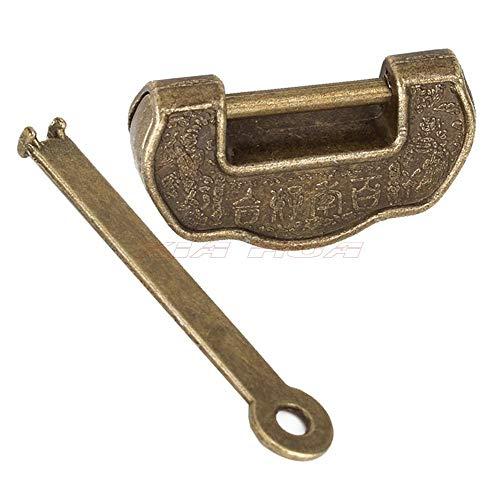 1 Unids Retro Lock Vintage Chinese Old Style Lock Jewelry Cofre Caja Candado Bronce Antiguo Vintage Garden Lock