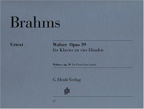 Walzer op. 39, Klavier zu vier Händen