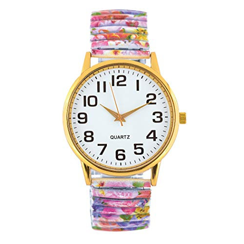 Comfortable & Stylish Elastic Band Watch with Large Face, Analog - Expansion for Plus Size Wrists