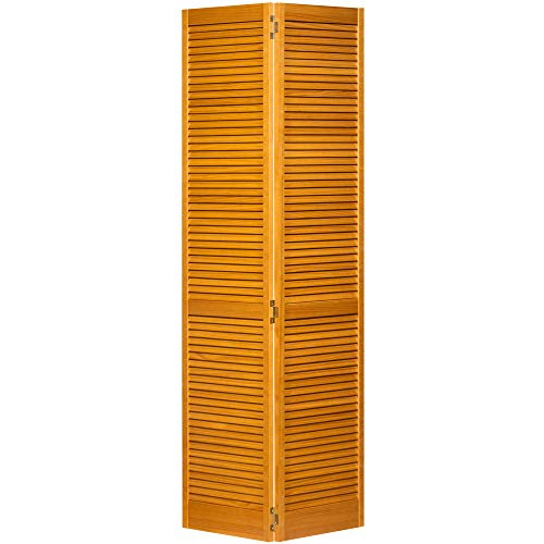 Kimberly Bay Traditional Louver Louver Golden Oak Solid Core Wood Bi-fold Door (80x36)