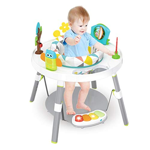 Baby Bouncers and Jumpers,Baby Walkers for Girls/Boys,Bounce-a-Round Entertainer,Sit-to-Stand Activity Center,3-in-1 Activity Walker and Rocker with Jumping Board and Feeding Tray
