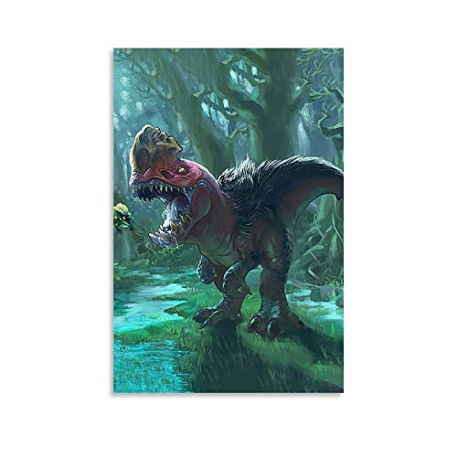 WLWQ Póster de Monster Hunter Jurassic Park de 60 x 90 cm