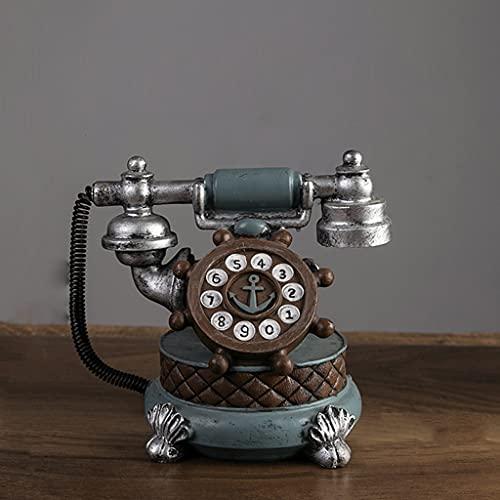 YOUCHOU Teléfono Retro Modelo de Reloj Adornos de Reloj Cafe Restaurante Reloj Reloj Decoración Tienda de Ropa (Color : D)