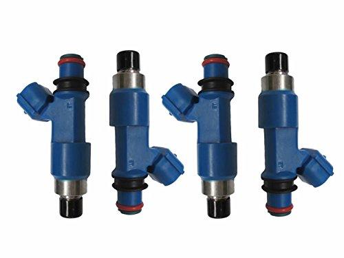 Set of 4 Dark Blue Fuel Injector For 2008-2014 SUBARU IMPREZA WRX STI Top Feed 16611AA720