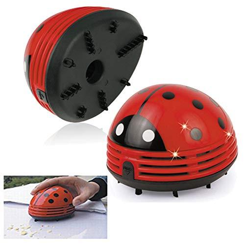 Caige Mini-Käfer-Staubsauger, beweglicher Handauto-Staubsauger, Elektronik-Reinigungsmittel, für Reinigung Staub, Krümel, Computertastatur,Rot