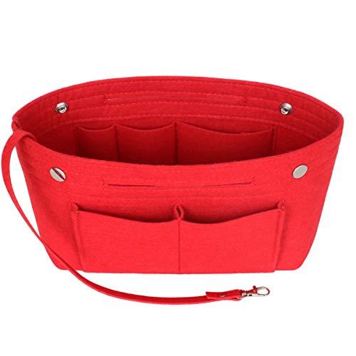 Taschenorganizer Filz, LV Taschen Organizer, Innentaschen für Handtaschen mit Griffen und Schlüsselkette, Handtaschen Organizer