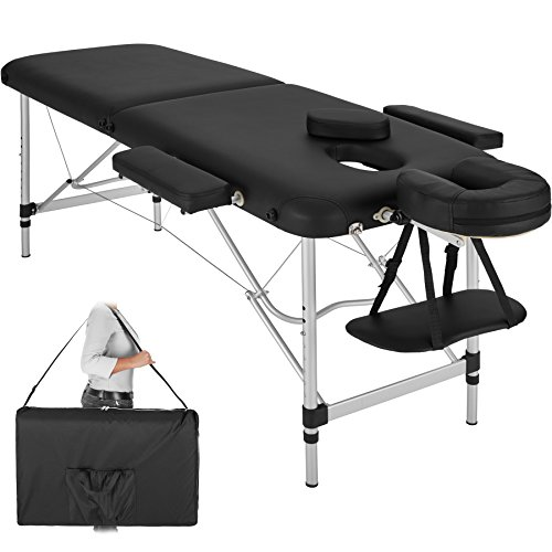 TecTake Table de Massage Pliante Aluminium Cosmetique Lit de Massage Portable + Housse de Transport...