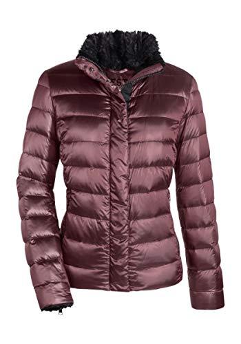 MILESTONE dames donsjack gewatteerde jas winterjas Loren paars grijs jeansblauw webbontkraag teddyvoering maat 36-46
