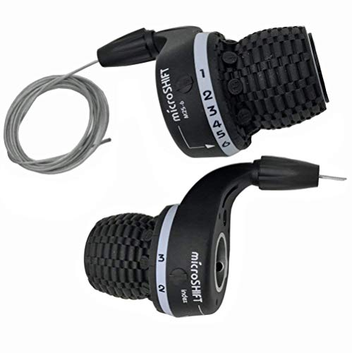 Microshift MTB Bike Bicycle Twist Grip Gear MS25-6 Shifters 3X6 Speed DIP Compatible for Shimano