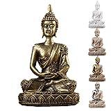 TOSSPER Latón Naturaleza Arenisca India Estatua De Buda De La Vendimia Escultura Feng Shui Buda Sentado Decoración del Cobre del Estilo Figurines 11cm