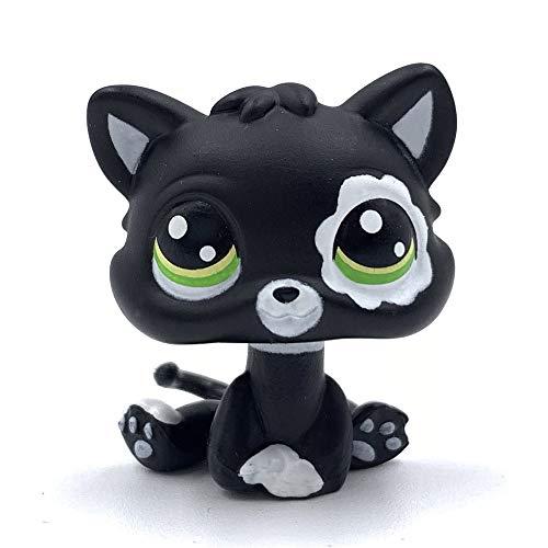 LPSCB Custom-Made Baby for Short Hair Cat Family 1 Inch Kitten Collection Mini Pet Toys (Black)