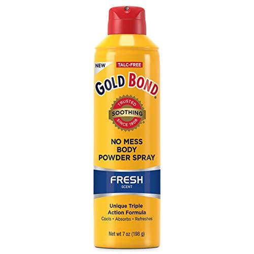 Gold Bond No Mess Talc-Free Body Powder Spray 7 oz, Fresh Scent