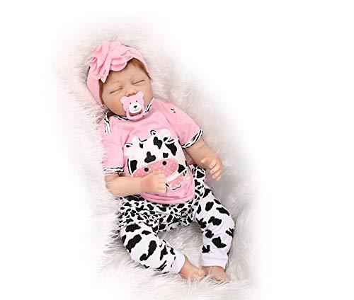 CHENYAO 55cm Soft Vinyl Silicone Life Like Reborn Babypop Lang Haar Pasgeboren Poppen Bruin Oogliefde Lange Mouwen