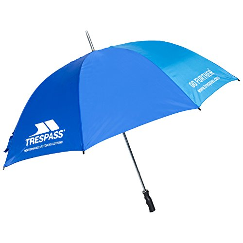 Trespass Umbrella, blauw, grote paraplu met beschermhoes, blauw