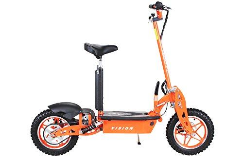 E-Scooter Roller Original E-Flux Vision mit 1000 Watt 36 V Motor Elektroroller E-Roller E-Scooter in vielen Farben (Orange) - 4