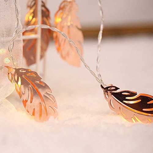 A-zht Elegante Dormitorio, Boda, 20 Leds Estilo Adolescente ardiente Hada lámpara cosmética para Navidad, Vistoso