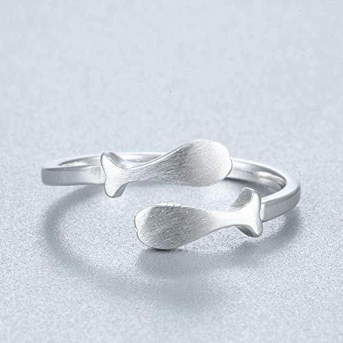 DDDDMMMY Zodiac Rings,S925 Sterling Silver Adjustable Pisces Horoscope Sign Open Twelve Constellation Rings For Men And Women, For Friends/Self/Lovers And Girls Birthday Jewelry Gifts,Fish