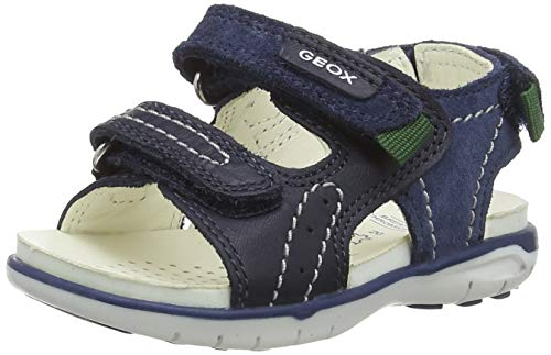 Geox B Delhi Boy C Sport Sandal, Navy, 27 EU