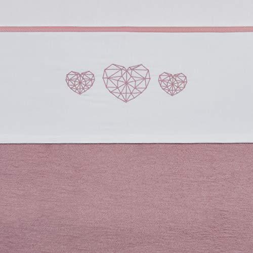 Meyco 414059 Ledikantlaken geometric heart, ledikant