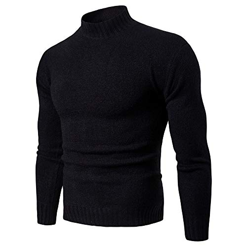 Z&Y Glaa Men's Turtleneck Soft Long Sleeve Top Ski Golf Crew Neck Thermal T Shirt Jumper Muscle Slim Fitted Tops for Men Large Size T-Shirts Plain Top Jumper Autumn Winter Long Sleeve Sweatshirts
