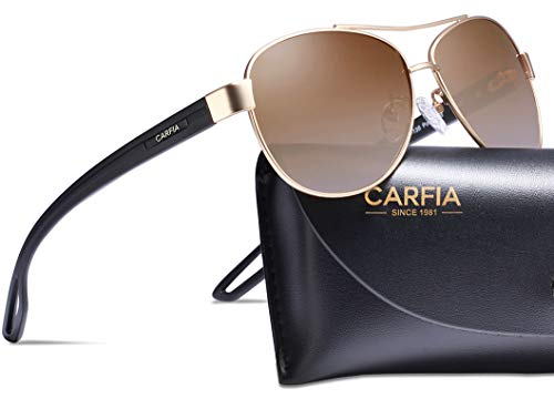 Carfia Polarized Sunglasses for Women UV Protection Outdoor Glasses UltraLightweight Comfort Frame