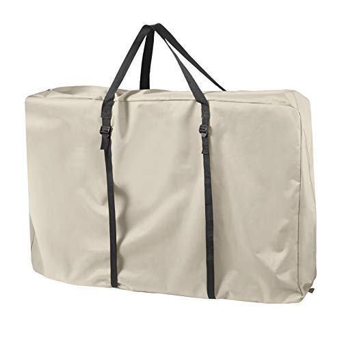 Explore Land Heavy Duty Chair Storage Bag for Folding Longue Chair, Zero Gravity Chair, Light Weight Transport Chair (Tan)