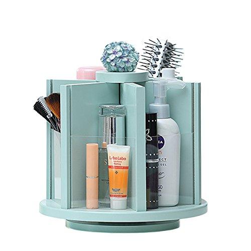 Wen Boîte de Rangement européenne créative cosmétiques télécommande Organisateur de Bureau Organisateur de Stockage (22 * 16 * 25cm) Bleu