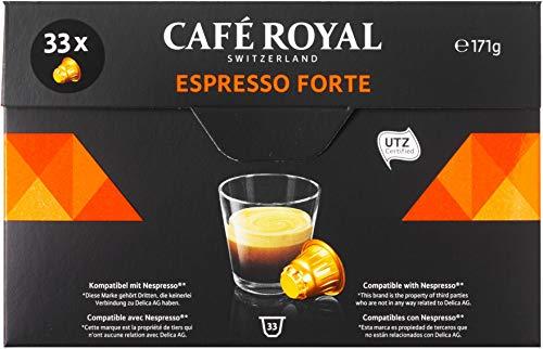 Café Royal Espresso Forte 33 Nespresso kompatible Kapseln (Intensität 8/10) 1er Pack (1 x 33 Kaffeekapseln)
