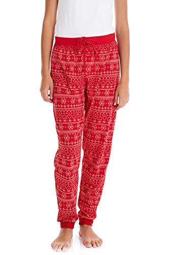 Suko's Women's Pajama Bottoms 18756-19 Red Snowflake Large