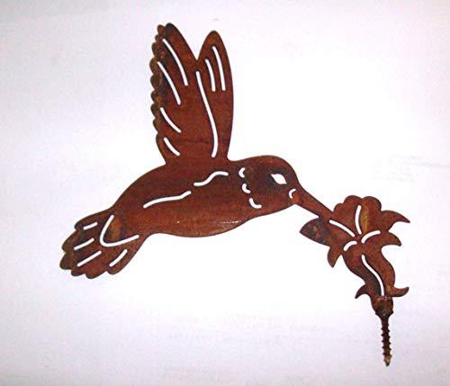 Deko Metall Objekt KOLIBRI Rost Figur zum Stecken 17 x 16 cm