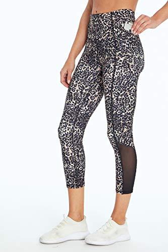 Jessica Simpson Sportswear Ace Pocket Capri Legging, Cinder Cheetah, Medium