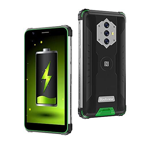 Blackview BV6600 Outdoor Smartphone Ohne Vertrag, 8,580mAh Akku Outdoor Handy, 16M+8MP Kamera, 4GB + 64GB, 4G Dual SIM, Android 10 5,7 Zoll Robustes Handy, NFC/Face ID/OTG/IP68/GPS