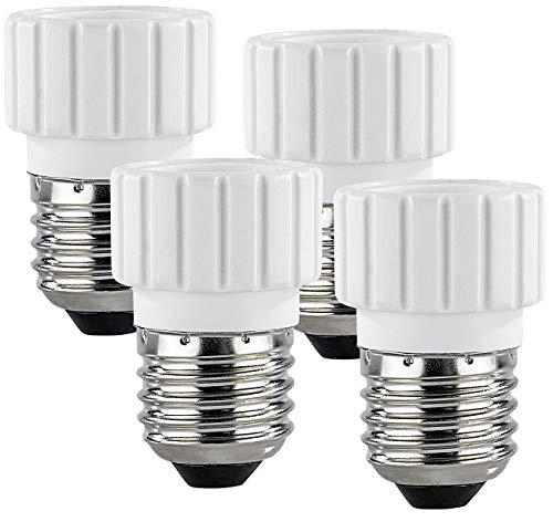 Lunartec 4 convertisseurs de Douilles - Culot E27 vers Ampoule GU10