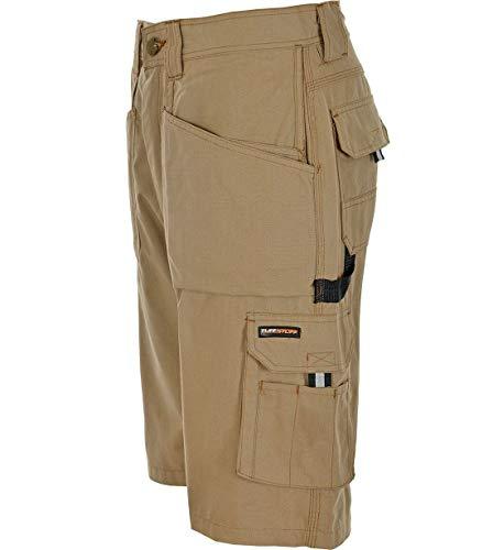 Tuffstuff Pantaloncini di lavoro da Uomo HOLSTER Multi Tasca Heavy Duty Cargo tripla cucitura