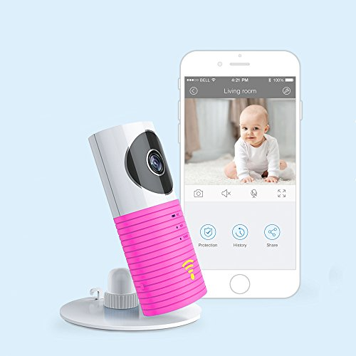 JTD Smart Wireless IP WiFi DVR Security Surveillance Camera with Motion Detector Two-Way Audio & Night Vision Best Security Camera Baby Monitor for Your Baby,Home, Pet or Business (Baby Pink)