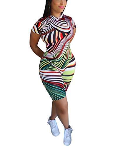 Women's Casual 2 Piece Outfit Short Sleeve Tie Dye T Shirt Top Short Pants Set Sport Tracksuit