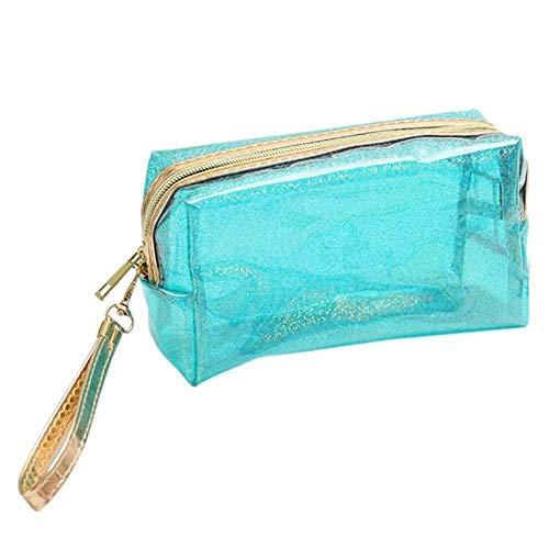 Sac cosmétique Mode Poche étanche Transparente Creative Portable Splash Proof Maquillage Pochette Trousse de Toilette pour Voyage 6.89 * 4.13inch-Green_6.89 * 4.13inch